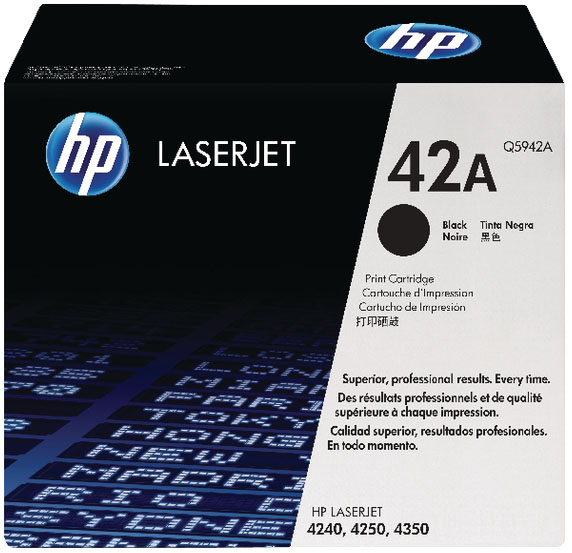 Genuine HP Q5942A (#42A) Black Toner Cartridge (HPQ5942ABKOEM)
