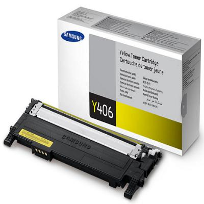 Genuine Samsung CLT-Y406S Yellow Toner Cartridge (SAMCLT-Y406SYOEM)