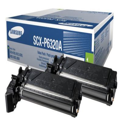 Genuine Samsung SCX-P6320A Twin Pack Toner Cartridge (SAMSCX-P6320ABKTWINOEM)