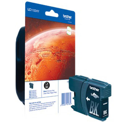Genuine Brother LC1100 High Capacity Black Ink Cartridge (LC-1100BKHOEM)