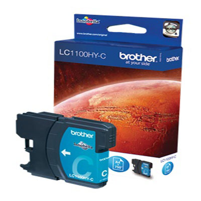 Genuine Brother LC1100 High Capacity Cyan Ink Cartridge (LC-1100CHOEM)