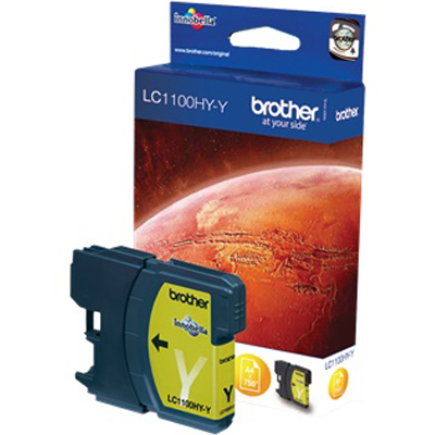 Genuine Brother LC1100 High Capacity Yellow Ink Cartridge (LC-1100YHOEM)