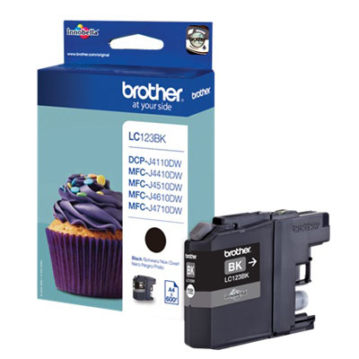 Genuine Brother LC123BK Black Ink Cartridge (LC-123BKOEM)