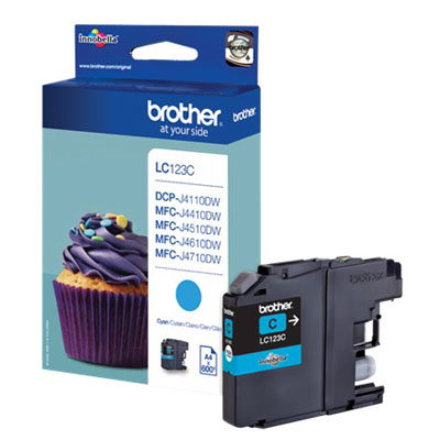 Genuine Brother LC123C Cyan Ink Cartridge (LC-123COEM)
