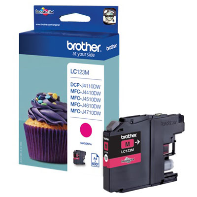 Genuine Brother LC123M Magenta Ink Cartridge (LC-123MOEM)