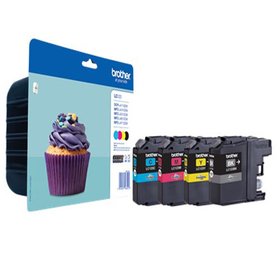 Genuine Brother LC123VAL PACK (BK/C/M/Y) Ink Cartridge (LC-123VALOEM)