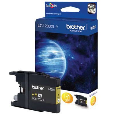 Genuine Brother LC1280XLY High Yeild Yellow Ink Cartridge (LC-1280XLYOEM)
