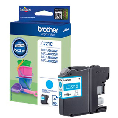 Genuine Brother LC221 Cyan Ink Cartridge (LC-221COEM)