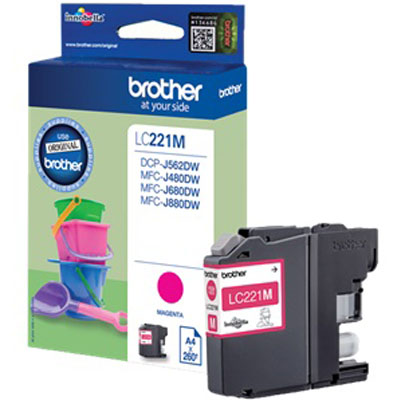 Genuine Brother LC221 Magenta Ink Cartridge (LC-221MOEM)