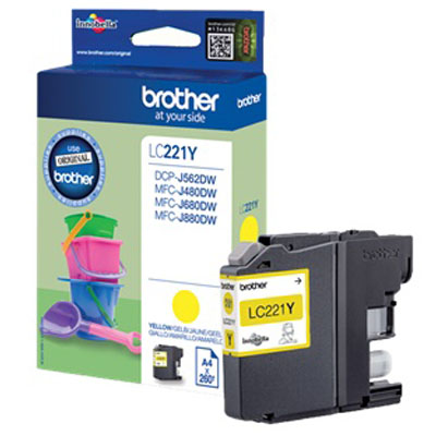 Genuine Brother LC221 Yellow Ink Cartridge (LC-221YOEM)