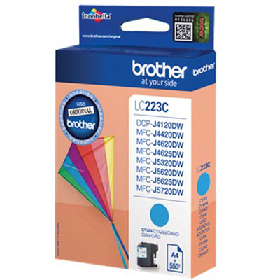 Genuine Brother LC223 Cyan Ink Cartridge (LC-223COEM)