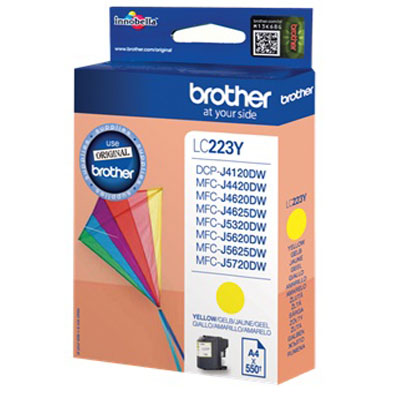 Genuine Brother LC223 Yellow Ink Cartridge (LC-223YOEM)