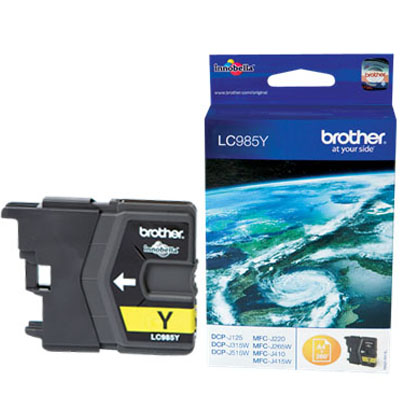 Genuine Brother LC985Y Yellow Ink Cartridge (LC-985YOEM)