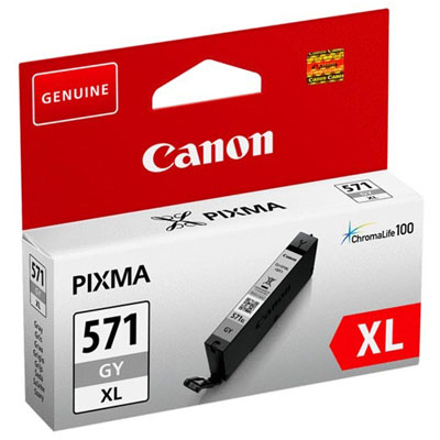 Genuine Canon CLI-571XL Grey High Capacity ink Cartridge (CLI571XLGYOEM)