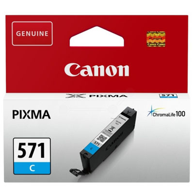 Genuine Canon CLI-571 Cyan ink Cartridge (CLI571COEM)