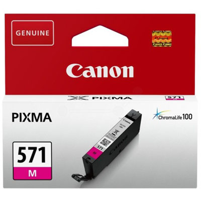 Genuine Canon CLI-571 Magenta ink Cartridge (CLI571MOEM)
