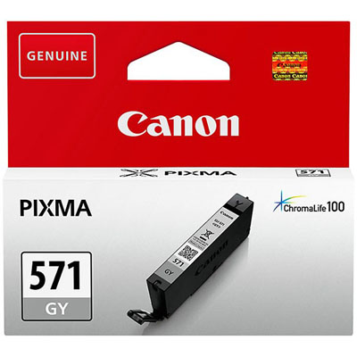 Genuine Canon CLI-571 Grey ink Cartridge (CLI571GYOEM)