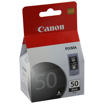 Genuine Canon PG-50 Black Ink Cartridge (PG50BKOEM)