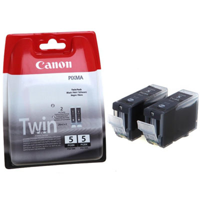 Genuine Canon PGI-5 Black Twin Pack Ink Cartridge (PGI5BKTWINOEM)