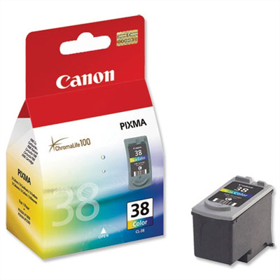 Genuine Canon CL-38 Colour Ink Cartridge (CL38CLROEM)