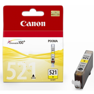 Genuine Canon CLI-521 Yellow Ink Cartridge (CLI521YOEM)