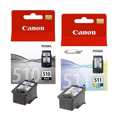 Genuine Canon PG-510 Black CLI-511 CLR Multi Pack Ink Cartridge (PG510BKCLI511CLRMULTIOEM)