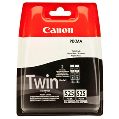 Genuine Canon PGI-525 Black Twin Pack Black Ink Cartridge (PGI525BK2OEM)