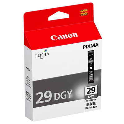 Genuine Canon PGI-29 Dark Grey Ink Cartridge (PGI29DGOEM)