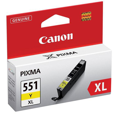 Genuine Canon CLI-551XL Yellow Ink Cartridge (CLI551XLYOEM)