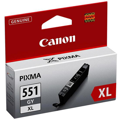 Genuine Canon CLI-551XL Grey Ink Cartridge (CLI551XLGYOEM)