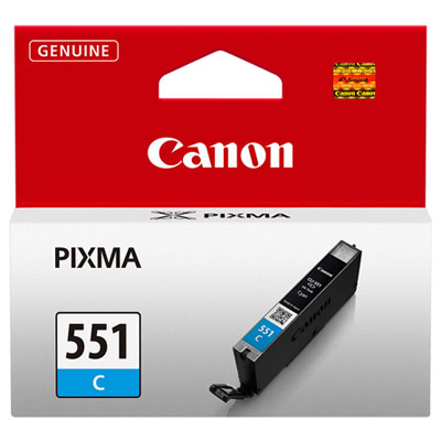 Genuine Canon CLI-551 Cyan Ink Cartridge (CLI551COEM)