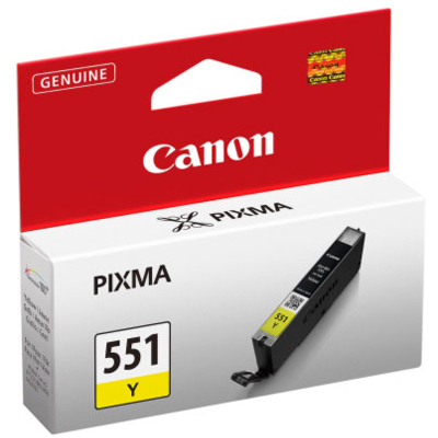 Genuine Canon CLI-551 Yellow Ink Cartridge (CLI551YOEM)
