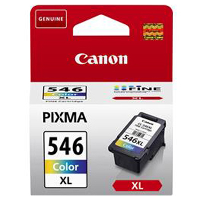 Genuine Canon CL-546 High Capacity Colour  Ink Cartridge (CL546CLRXLOEM)
