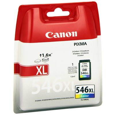 Genuine Canon CL-546 Colour Ink Cartridge (CL546CLROEM)