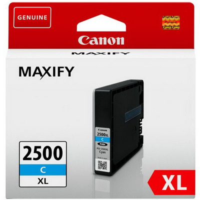 Genuine Canon PGI-2500XL Cyan ink Cartridge (PGI2500XLCOEM)