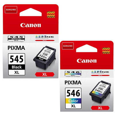 Genuine Canon PG-545XL Black CL-546XL CLR Multi Pack High Capacity Ink Cartridge (PG545XLBKCL546XLCLRMULTIOEM)