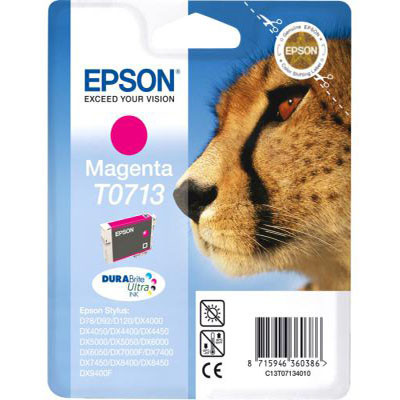 Genuine Epson C13T07134012 Magenta Ink Cartridge (T0713MOEM)
