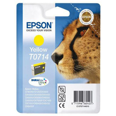Genuine Epson C13T07144012 Yellow Ink Cartridge (T0714YOEM)