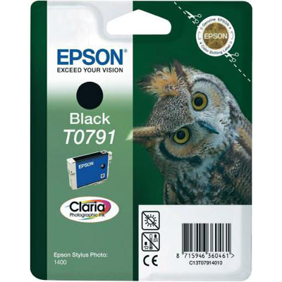 Genuine Epson C13T07914010 Black Ink Cartridge (T0791BKOEM)