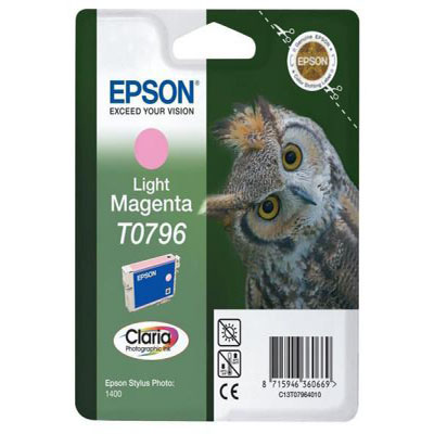 Genuine Epson C13T07964010 Light Magenta Ink Cartridge (T0796LMOEM)