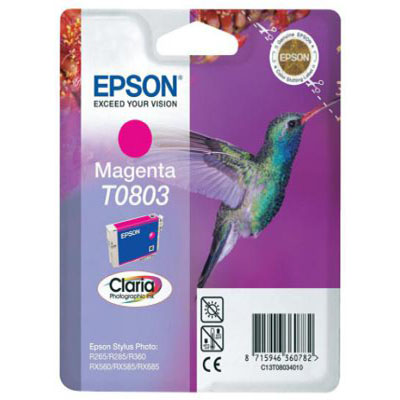 Genuine Epson C13T08034011 Magenta Ink Cartridge (T0792COEM)