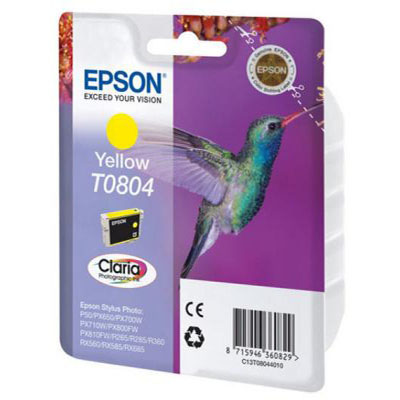Genuine Epson C13T08044011 Yellow Ink Cartridge (T0792COEM)