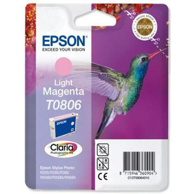 Genuine Epson C13T08064011 Light Magenta Ink Cartridge (T0792COEM)