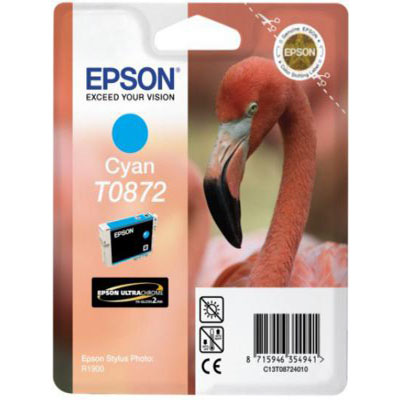 Genuine Epson C13T08724010 Cyan Ink Cartridge (T0872COEM)