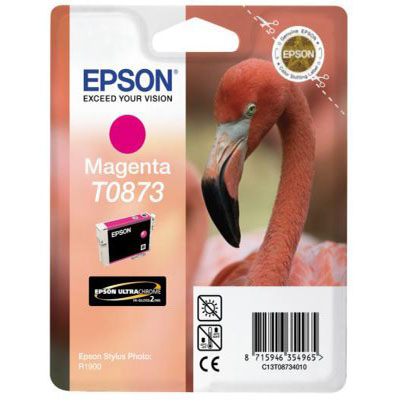 Genuine Epson C13T08734010 Magenta Ink Cartridge (T0873MOEM)