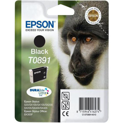 Genuine Epson C13T08914011 Black Ink Cartridge (T0891BKOEM)