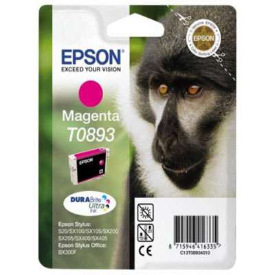 Genuine Epson C13T08934011 Magenta Ink Cartridge (T0893MOEM)