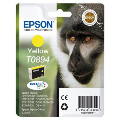 Genuine Epson C13T08944011 Yellow Ink Cartridge (T0894YOEM)