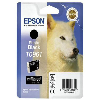 Genuine Epson C13T09614010 Photo Black Ink Cartridge (T0961BKOEM)