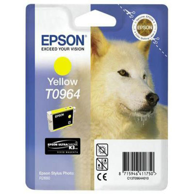 Genuine Epson C13T09644010 Yellow Ink Cartridge (T0964YOEM)